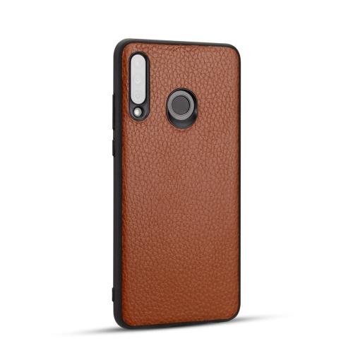 For Huawei P30 Lite - Lychee Grain Cortex Anti-falling TPU Mobile Phone Shell Protective Case(Brown)