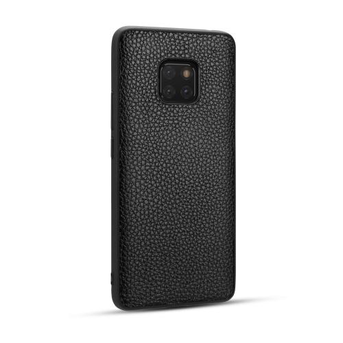 For Huawei Mate20 Pro - Lychee Grain Cortex Anti-falling TPU Mobile Phone Shell Protective Case(Black)