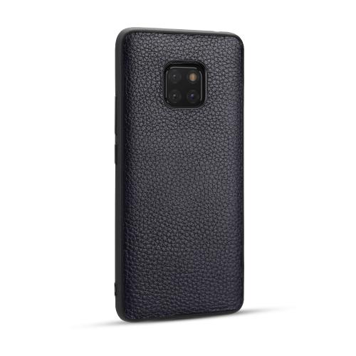 For Huawei Mate20 Pro - Lychee Grain Cortex Anti-falling TPU Mobile Phone Shell Protective Case(Deep Blue)