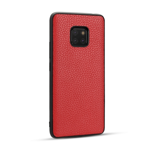 For Huawei Mate20 Pro - Lychee Grain Cortex Anti-falling TPU Mobile Phone Shell Protective Case(Red)