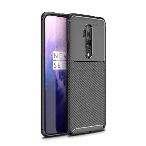 For One Plus 7T Pro - Carbon Fiber Texture Shockproof TPU Case(Black)