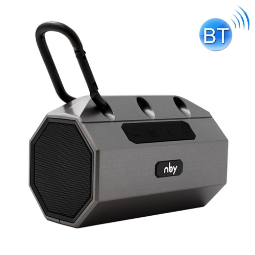 NBY 2290 Wireless Bluetooth Speaker Portable Waterproof Outdoor Loudspeaker Support TF Card & FM Radio(Gray)