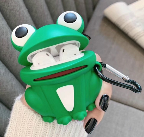 For Apple AirPods 1/2 Generation Universal Frog Bluetooth Headphone Protective Case