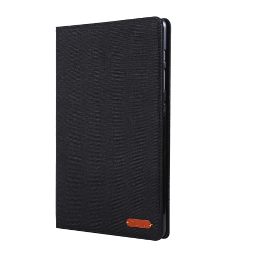 For Galaxy Tab S6 / T860 / T865 Cloth Teature Horizontal Flip PU Leather Case with with Holder & Card Slots & Pen Slot(Black)