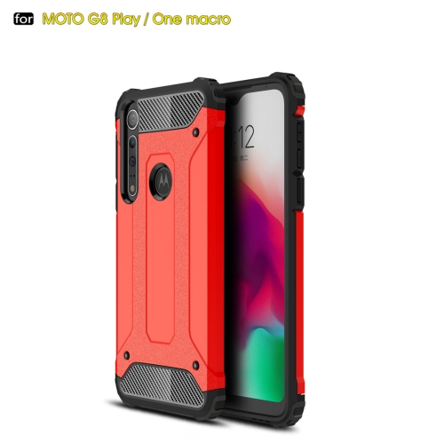 For Moto G8 Play Magic Armor TPU + PC Combination Case(Red)