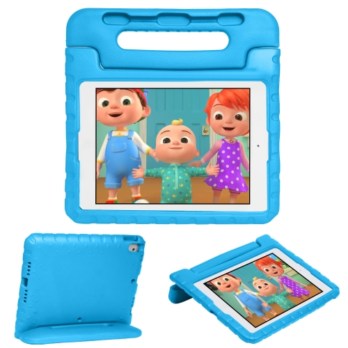 For iPad 10.2 EVA Bumper Protective Case with Handle & Holder (Blue) фото