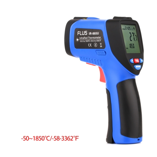 FLUS IR-865U -50~1850℃ Digital Infrared Non-contact Laser Handheld Portable Electronic Outdoor Thermometer Pyrometer