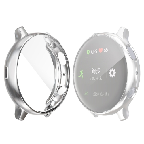 For Samsung Galaxy Watch Active 2 44mm ENKAY Hat-prince Full Coverage Electroplate TPU Case(Silver) фото