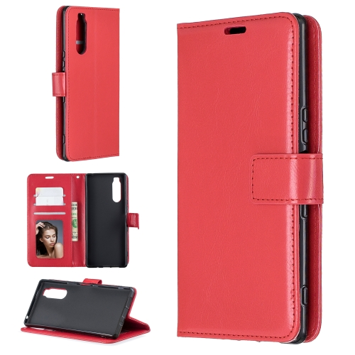 For Sony Xperia 5 Crazy Horse Texture Horizontal Flip Leather Case with Holder & Card Slots & Wallet & Photo Frame(Red)