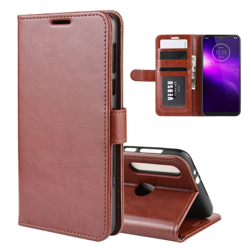 For Motorola One Macro / G8 Play R64 Texture Single Fold Horizontal Flip Leather Case with Holder & Card Slots & Wallet(Brown)