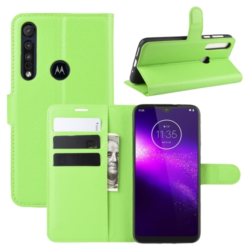 For Motorola One Macro / G8 Play Litchi Texture Horizontal Flip Leather Case with Wallet & Holder & Card Slots(Green)