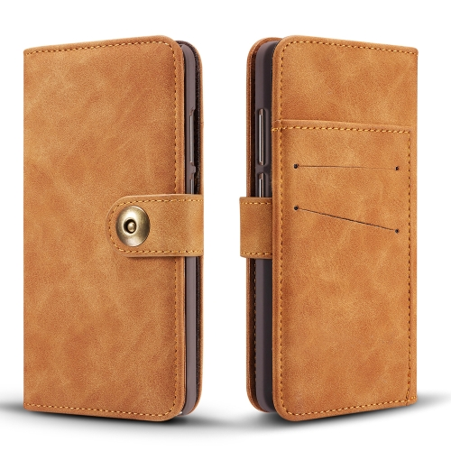 For Huawei P20 Pro Retro Magnetic Detachable Horizontal Flip Leather Case with Card Slots & Wallet & Photo Frame(Light Brown)