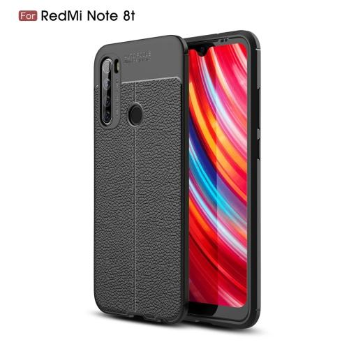 For Xiaomi Redmi Note 8T Litchi Texture TPU Shockproof Case(Black) фото
