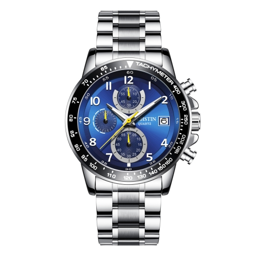 OCHSTIN 6112 Men Multi Function Watch Fashion Sports Business Calendar Luminous Men Watch Quartz Watch Steel Watch(Blue)