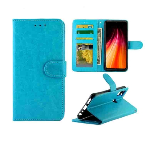 For Xiaomi Redmi Note 8T Crazy Horse Texture Leather Horizontal Flip Protective Case with Holder & Card Slots & Wallet & Photo Frame(Baby Blue)