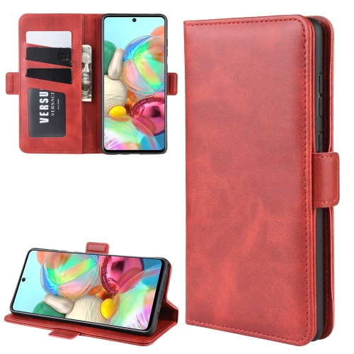 For Galaxy A81 / M60S / Note 10 Lite Dual-side Magnetic Buckle Horizontal Flip Leather Case with Holder & Card Slots & Wallet(Red) фото