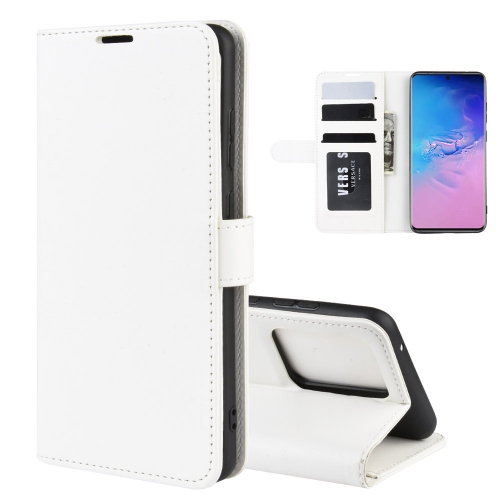 For Galaxy S20 Ultra R64 Texture Single Horizontal Flip Protective Case with Holder & Card Slots & Wallet& Photo Frame(White)