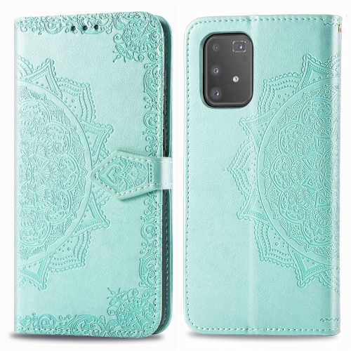 For Galaxy S10 Lite / M80s Halfway Mandala Embossing Pattern Horizontal Flip Leather Case with Holder & Card Slots & Wallet & Photo Frame & Lanyard(Green) фото