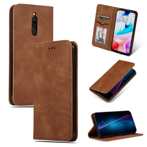 For Xiaomi Redmi 8A Retro Skin Feel Business Magnetic Horizontal Flip Leather Case(Brown) фото