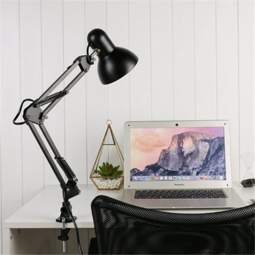 Flexible Swing Arm Clamp Mount Table Lamp Office Studio Home Table Desk Light, US Plug фото