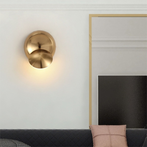 Rotating Wall Round Bedside Staircase Indoor Corridor Wall Lamp(Gold)