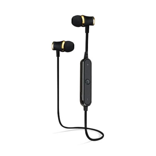 Bass Handsfree Sports Sweatproof Wireless Bluetooth Earphones with Mic(black)