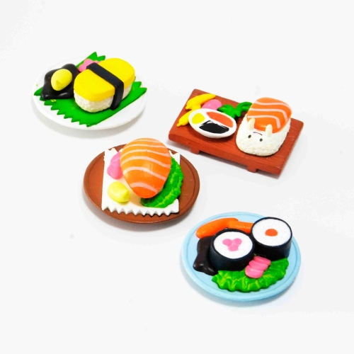 Simulation Sushi Painted Resin Magnetic Refrigerator Stickers Doll House Accessories, Random Style Delivery