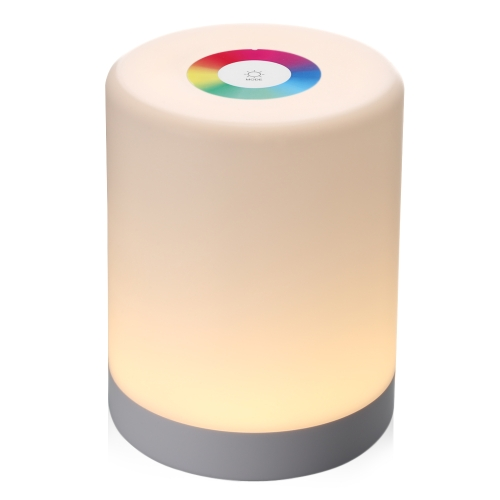 LED Touch Control Induction Dimmer Lamp Smart Dimmable RGB Color Change Rechargeable Bedside Night Light