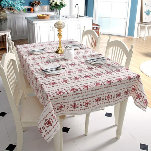 snowflake table decorations.htm sunsky linen cotton tablecloth red snowflakes pattern table  sunsky linen cotton tablecloth red
