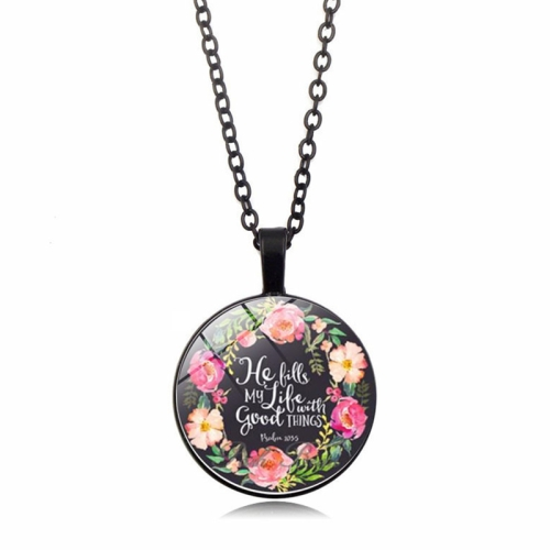 Rose Time Jewelry Dome Pendant Necklace(ABXL570-1)