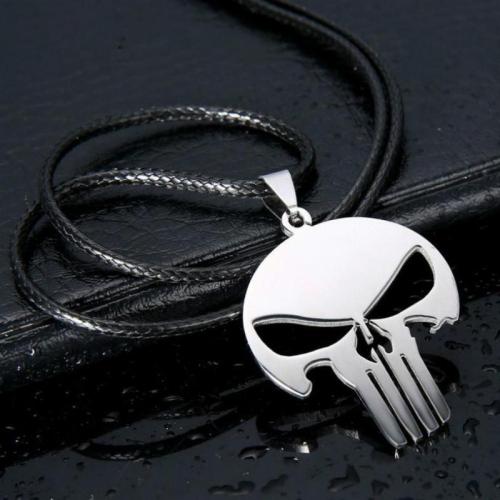 Punishment Skull Dark Knight Stainless Steel Necklace