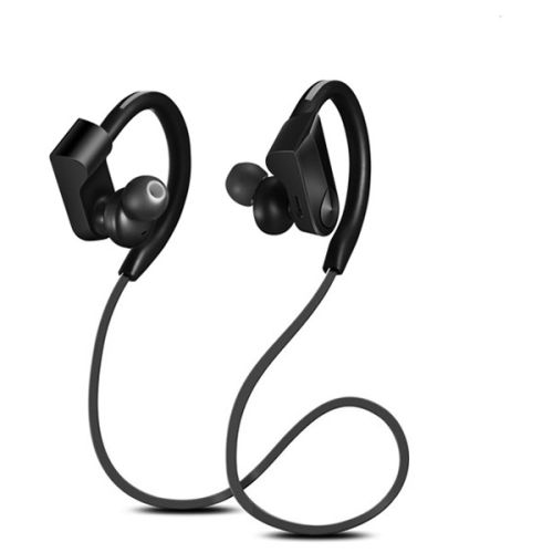 CLIGO Wireless Bluetooth Earphone Sport Headset Waterproof Bass Noise Cancelling Headphones with Mic(Black)