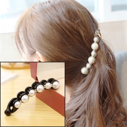 Pearls Hairpins Hair Clips Headwear Accessories(Black)