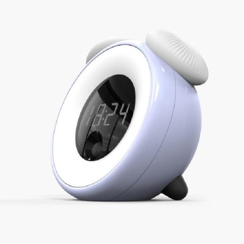 Smart Timed Sleeping Bedside Table Lamp Sensing Digital Alarm Clock Nightlight(Blue)