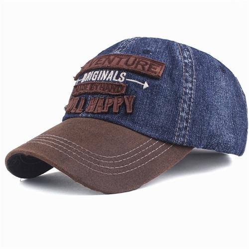 Boy Embroidery Adjustable Cowboy Cap(Blue)