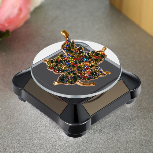 LED Light Rotating Display Base Stand for Jewelry Necklace Pendant Showcase
