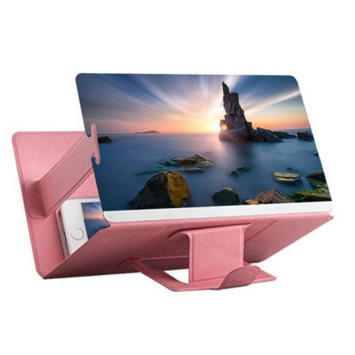 8 inch Universal Mobile Phone 3D Screen Amplifier HD Video Magnifying Glass Stand Bracket Holder(Pink) фото