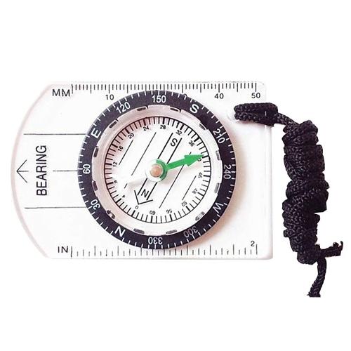 Outdoor Hiking Camping Map Measuring Gauge Range Finder Meter Scale Compass  F