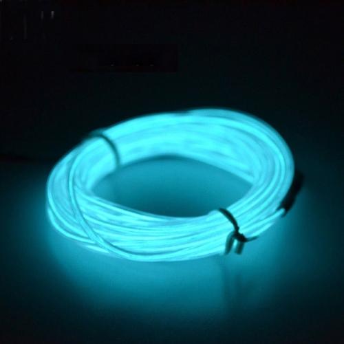 Flexible LED Light EL Wire String Strip Rope Glow Decor Neon Lamp USB Controlle 3M Energy Saving Mask Glasses Glow Line F277(Ice Blue Light)