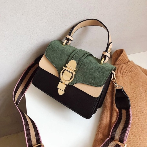 Women Leather Handbags Shoulder Bags Luxury Design Crossbody Purses(Green)