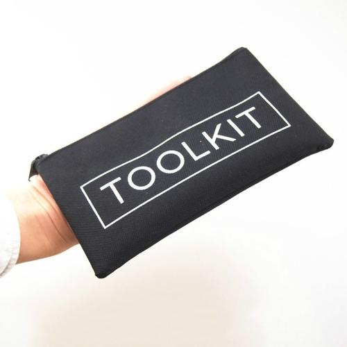 Oxford Cloth Simple Kit Repair Tool Storage Zipper Bag, Size:19 x 11cm