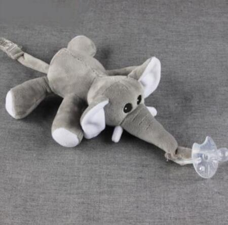 Pacifier Chain Clip Plush Animal Toys Soother Nipples Holder For Baby Child