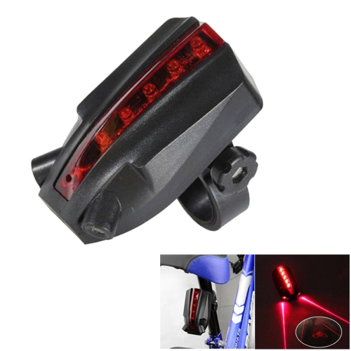 Bicycle Taillights 2 Laser Beams +5 Superbright Red LED Indicators with Safety Warning Bicycle Logo