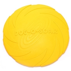 Pet toys Large Dog Flying Discs Trainning Puppy Toy Rubber Fetch Flying Disc Frisby, Size:18x18x3cm(Yellow)