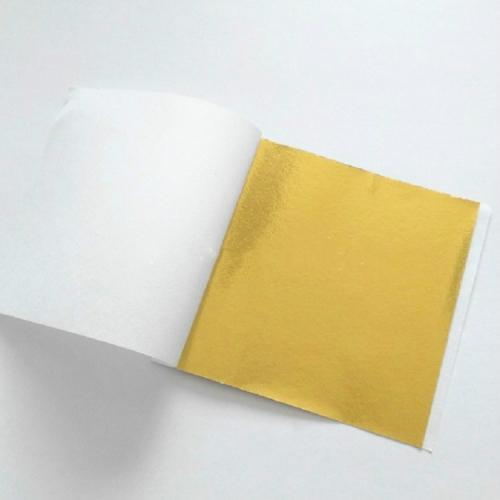 100 PCS 9x9CM Imitation Gold Leaf Hotel Decorative Sticker( Gold Foil)