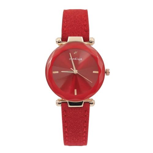 MODIYA PD387 Fluffed Strap Starry Sky Quartz Watch for Women(Red)