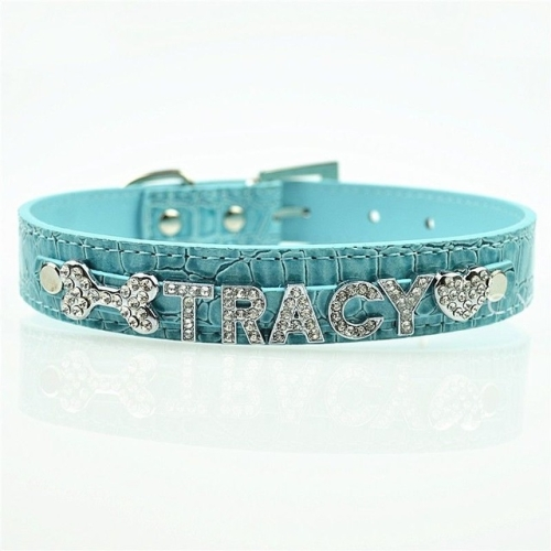 9d5093852d SUNSKY - 5 PCS 10MM Bling Personalized Dog Collar With Rhinestone ...