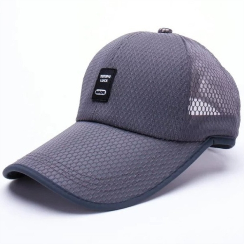 Outdoor Quick-drying Mesh Breathable Baseball Cap for Men(Gray)