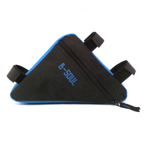 Triangle Bike Bag Front Tube Frame Cycling Bicycle Bags Waterproof MTB Road Pouch Holder Saddle(Blue Black)