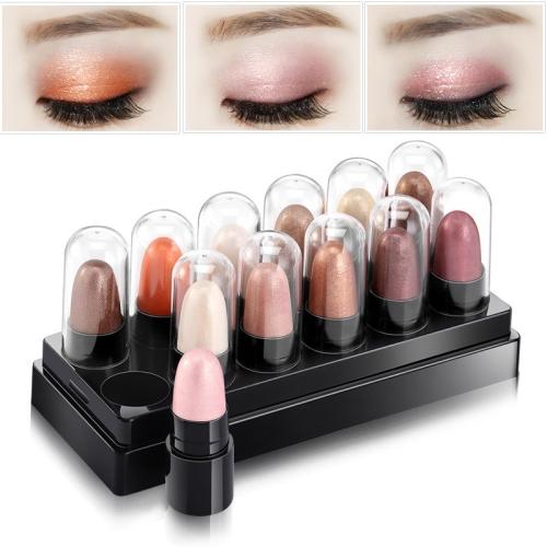 12Pcs/Set Mini Size Mousse Eye Shadow Pen Eye Shadow Pencil Eye Makeup Eyeliner 12 Color Optional Makeup Tools Eye Cosmetic 02